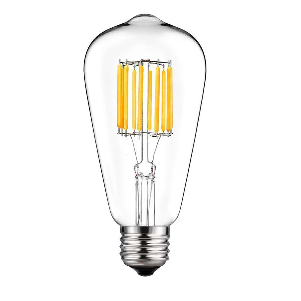 supli 10w st64 edison warm white 100w equivalent vintage led filament bulb with 360 degree beam. Black Bedroom Furniture Sets. Home Design Ideas