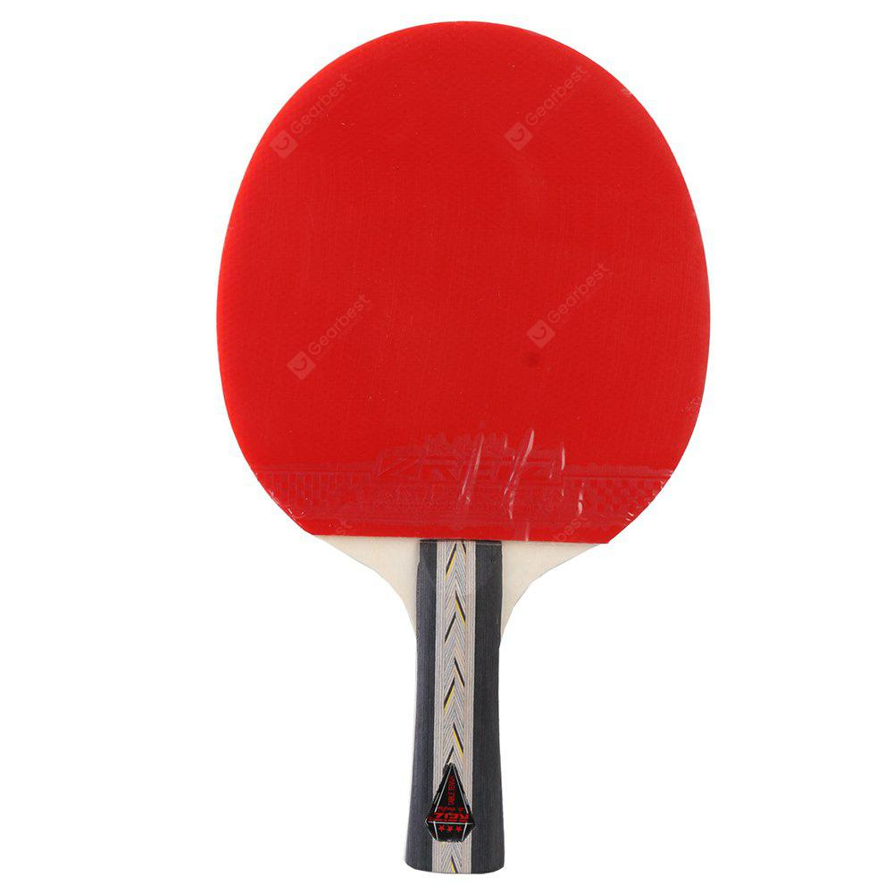 BLACK AND RED REIZ Short Or Long Handle Shake-hand Ping Pong Paddle Table Tennis Racket with Case 3 Stars