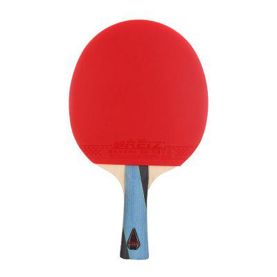 REIZ Short or Long Handle Shake-hand Table Tennis Set Ping Pong Paddle Racket with Case 5 Stars