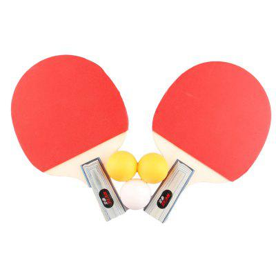 REIZ2401 Short or Long Handle Shake-hand Table Tennis Set 2 Rackets + 3 Balls Ping Pong Paddle