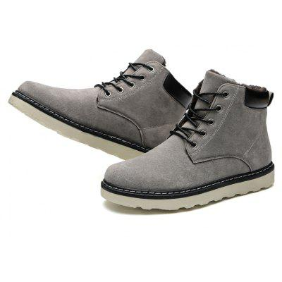 Solid High Vamp Warm ShoesMens Boots<br>Solid High Vamp Warm Shoes<br><br>Available Size: 39 40 41 42 43 44<br>Closure Type: Lace-Up<br>Embellishment: None<br>Flat Type: T-Strap<br>Gender: For Men<br>Insole Material: Rubber<br>Lining Material: Plush<br>Occasion: Casual<br>Outsole Material: Rubber<br>Package Contents: 1?Shoes(pair)<br>Pattern Type: Others<br>Season: Winter<br>Shoe Width: Medium(B/M)<br>Toe Shape: Round Toe<br>Toe Style: Closed Toe<br>Upper Material: PU<br>Weight: 1.0200kg