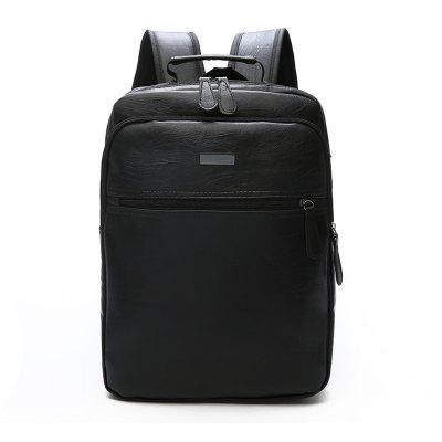 Simple Casual Pure Travel Backpack Business Laptop Book School Bag for Men