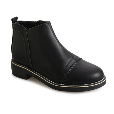 Buy BLACK 36 Winter Fashion Martin Shoes Students Thick Soled Female Short Boots for $35.58 in GearBest store