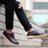 Buy Bullock Carved Leather Casual Shoes Business Air Feet British Tide All-Match 38 BROWN