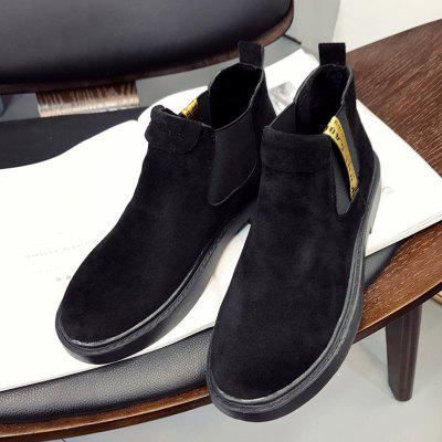 2017 New Winter Boots Female British Nubuck Leather Flat All-match Martin BootsWomens Boots<br>2017 New Winter Boots Female British Nubuck Leather Flat All-match Martin Boots<br><br>Boot Height: Ankle<br>Boot Type: Riding/Equestrian<br>Closure Type: Elastic band<br>Gender: For Women<br>Heel Type: Flat Heel<br>Package Contents: 1 x Shoes?Pair?<br>Pattern Type: Solid<br>Season: Winter<br>Toe Shape: Round Toe<br>Upper Material: PU<br>Weight: 0.8960kg