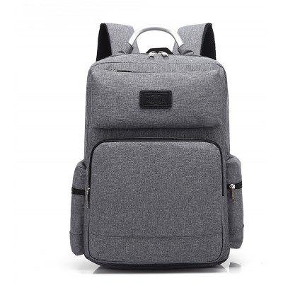 Buy GRAY AUGUR 2017 Fashion Men Backpack Oxford High Quality Laptop Notebook School College Students Bag for $34.34 in GearBest store