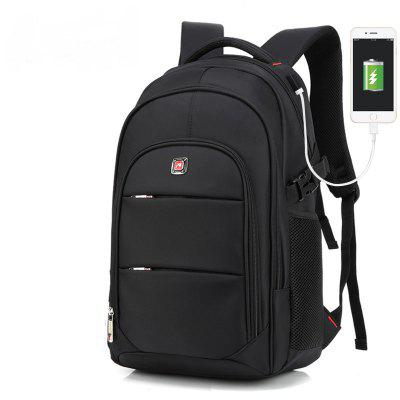 Image result for AUGUR Men Backpacks 17INCH Laptop USB Waterproof Travel Bag Women Student Back To School Bags For Teenagers