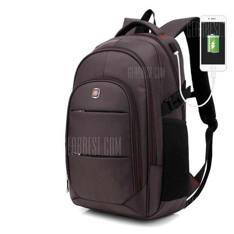 5d107d4a21 AUGUR Men Backpacks 17INCH Laptop USB Waterproof Travel Bag Women Student  Back To School Bags For Teenagers - gearbest.com - imall.com