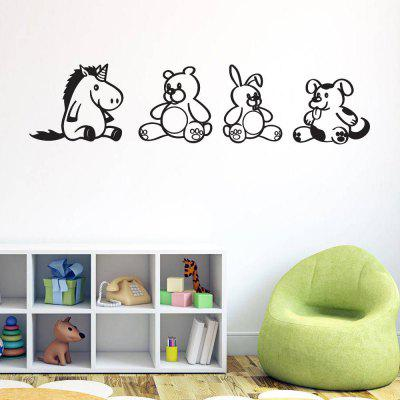 Buy Cartoon Animal Creative Wall Stickers For Kids Room Decoration, BLACK, Home & Garden, Home Decors, Wall Art, Wall Stickers for $2.41 in GearBest store