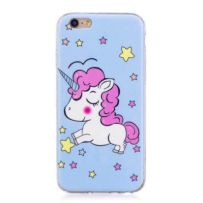 TPU Material Star Unicorn Pattern High Penetration Luminous Phone Case for iPhone 6S/6
