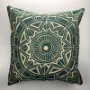 DIHE Ancient Geometric Pattern Style Linen Decorative Pillow Case Cushion Cover - COLORMIX