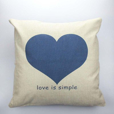 Buy COLORMIX DIHE Simple Love Cushion Sofa Home Decorative Linen Pillow Cover for $7.36 in GearBest store