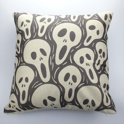 Buy COLORMIX DIHE Screamer Ghost Cushion Sofa Home Decorative Linen Pillow Cover for $7.36 in GearBest store