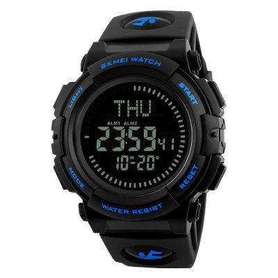 Buy BLUE Fashion Multifunctional Men Electronic Watch with Compass for $19.71 in GearBest store