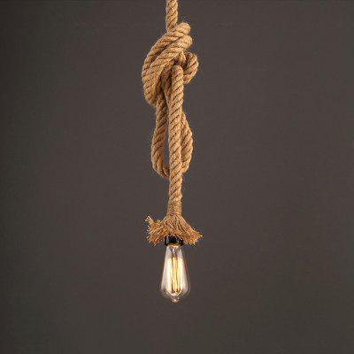 JUEJA American Industrial Retro Rope Pendant Light for Bedroom / Restaurants / Coffee Bar Lamp