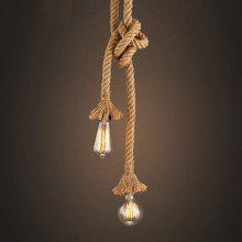 JUEJA American Industrial Retro Rope 2 Heads Pendant Light for Bedroom / Restaurants / Coffee Bar