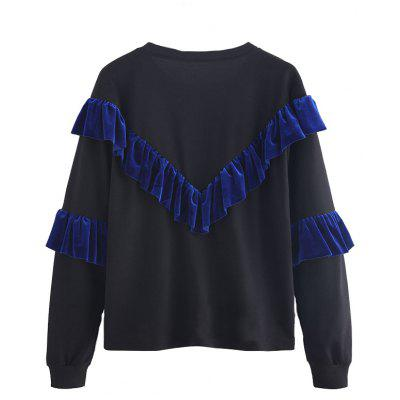 Womens Fashion Lotus Leaf Long-Sleeved SweatshirtTees<br>Womens Fashion Lotus Leaf Long-Sleeved Sweatshirt<br><br>Collar: Round Neck<br>Elasticity: Elastic<br>Embellishment: Ruffles<br>Fabric Type: Velour<br>Material: Polyester, Cotton Blends<br>Package Contents: 1 x Sweatshirt<br>Pattern Type: Patchwork<br>Shirt Length: Regular<br>Sleeve Length: Full<br>Sleeve Type: Butterfly Sleeve<br>Style: Fashion<br>Weight: 0.2500kg