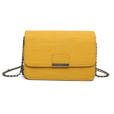 Buy YELLOW Women's Leather Fashion Pure Handbag Cross Body Shoulder Bag for $24.26 in GearBest store