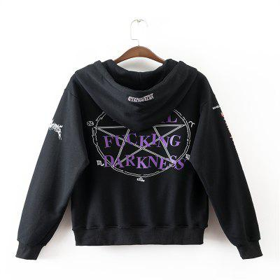 Womens Black Letter Embroidered Cotton HoodieSweatshirts &amp; Hoodies<br>Womens Black Letter Embroidered Cotton Hoodie<br><br>Closure Type: None<br>Collar: Hooded<br>Detachable Part: None<br>Elasticity: Elastic<br>Fabric Type: Cotton<br>Hooded: Yes<br>Material: Cotton<br>Package Contents: 1 x Hoodie<br>Pattern Style: Letter<br>Shirt Length: Regular<br>Sleeve Length: Full<br>Sleeve Style: Regular<br>Style: Fashion<br>Thickness: Standard<br>Weight: 0.4500kg