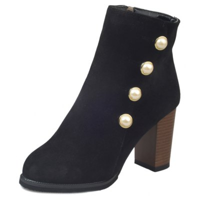 MK-9913 Round Winter English Pearls with Heel Zipper Martin BootsWomens Boots<br>MK-9913 Round Winter English Pearls with Heel Zipper Martin Boots<br><br>Boot Height: Ankle<br>Boot Type: Fashion Boots<br>Closure Type: Zip<br>Gender: For Women<br>Heel Type: Chunky Heel<br>Package Contents: 1xShoes?pair?<br>Pattern Type: Solid<br>Season: Spring/Fall<br>Toe Shape: Round Toe<br>Upper Material: Flock<br>Weight: 0.9360kg
