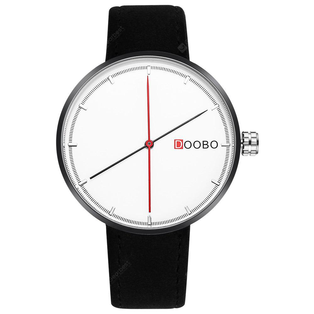 DOOBO D008 4743 Business Casual Leather Band Quartz Movement Women Watch with Box