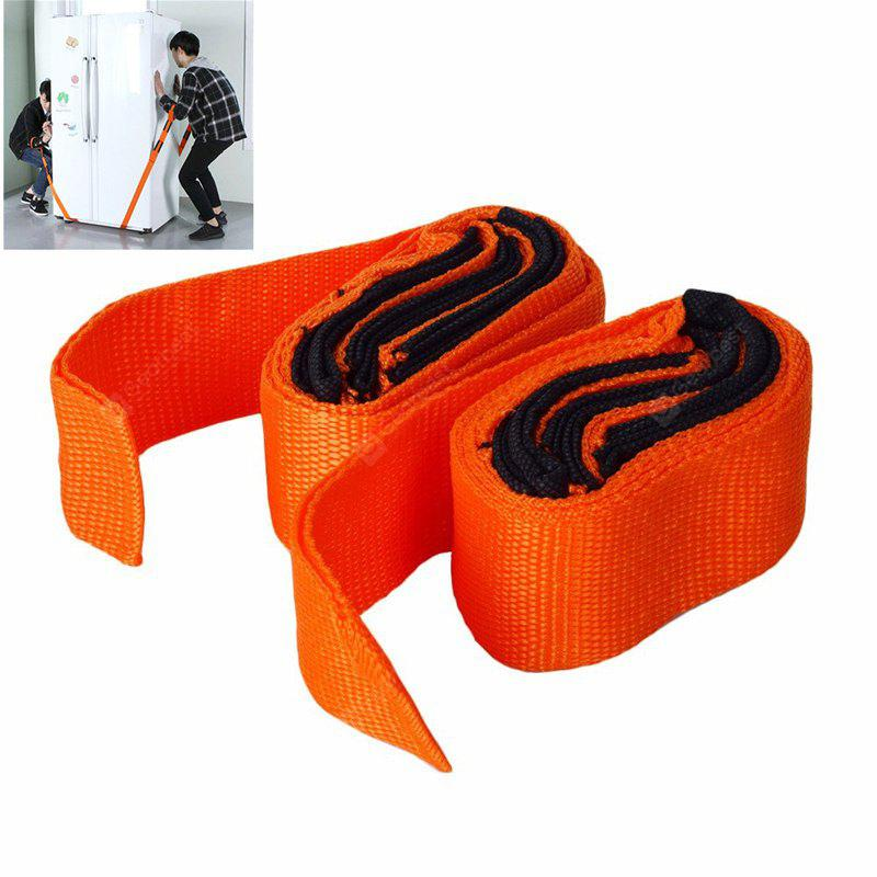Easy Carry Furniture Lifting Moving Belt Straps 2pcs - ORANGE