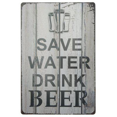 Vintage Style Beer Pattern Metal Painting for Cafe Bar Restaurant Wall Decor
