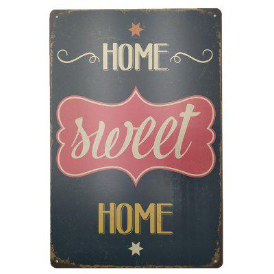 Vintage Style Sweet Home Metal Painting for Cafe Bar Restaurant Wall Decor
