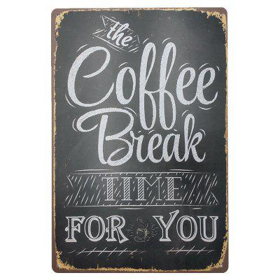 Coffee Retro Style Metal Painting for Cafe Bar Restaurant Wall Decor