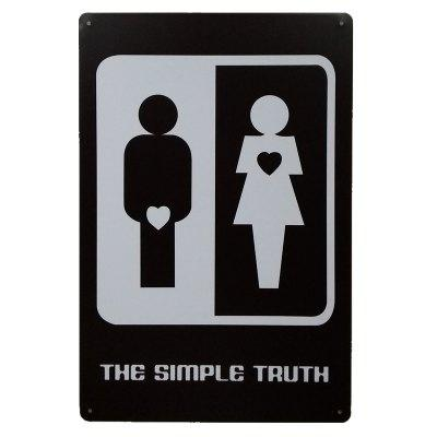 Buy Funny Men / Women Sign Metal Painting for Cafe Bar Restaurant Wall Decor BLACK for $4.39 in GearBest store