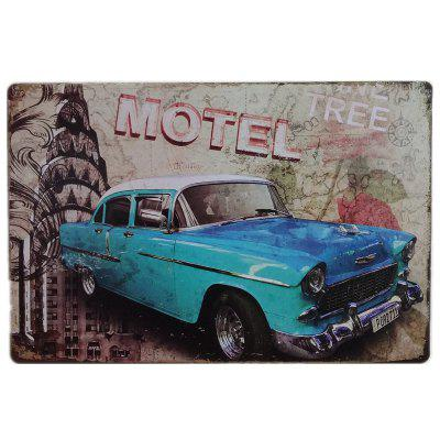 Buy Vintage Blue Car Style Metal Painting for Cafe Bar Restaurant Home Wall Decor COLORMIX for $4.69 in GearBest store