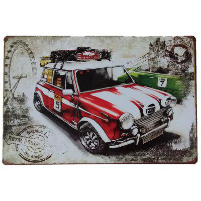 Car Pattern Vintage Style Metal Painting para Cafe Bar Restaurant Home Wall Decor