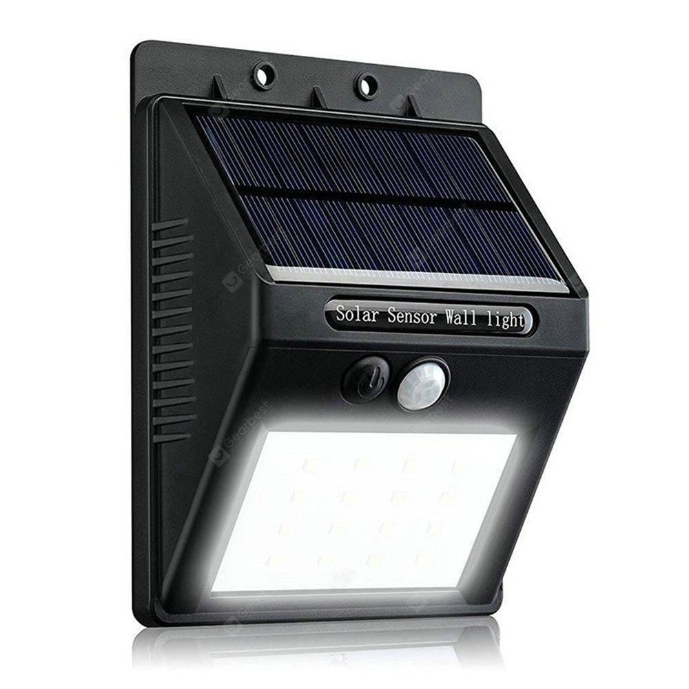 BRELONG Solar Powered PIR LED Wall Light 20LEDs