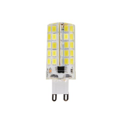 BRELONG Dimming G9 4W SMD5730 LED Bulb 10PCSCorn Bulbs<br>BRELONG Dimming G9 4W SMD5730 LED Bulb 10PCS<br><br>Brand: BRELONG<br>Bulb Shape: T<br>Certifications: CE,RoHs<br>Color Temperature or Wavelength: 5000 - 5500K<br>Connection: Ohters<br>Connector Type: G9<br>Dimmable: Yes<br>Initial Lumens ( lm ): 400<br>LED Beam Angle: 360 Degree<br>LED Quantity: 80<br>LED Type: SMD 5730<br>Lifetime ( h ): More Than  30000<br>Light Source Color: White<br>Material: Silica Gel<br>Package Contents: 10 x Bulbs<br>Package size (L x W x H): 2.00 x 20.00 x 7.00 cm / 0.79 x 7.87 x 2.76 inches<br>Package weight: 0.3000 kg<br>Power Supply: AC Powered<br>Primary Application: Bedroom,Home or Office,Living Room or Dining Room,Residential,Storage Room<br>Product size (L x W x H): 1.60 x 1.60 x 6.00 cm / 0.63 x 0.63 x 2.36 inches<br>Product weight: 0.0300 kg<br>Quantity: 10pcs<br>Type: LED Corn Lights<br>Voltage: 110V/220V<br>Wattage: 4W