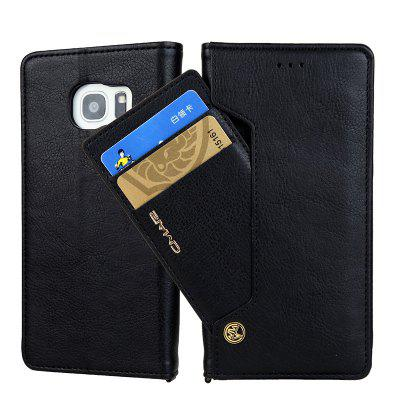 Rotate The Card Lanyard Phone Cover TPU Leather for Samsung Galaxy S7 edge