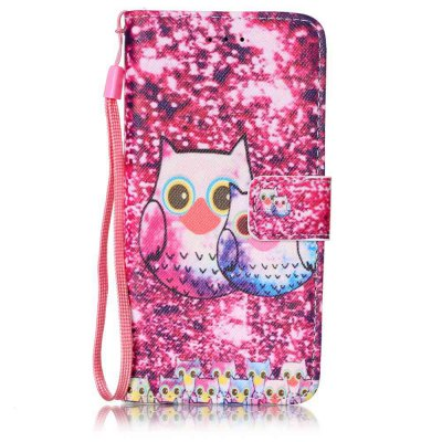 Buy PINK Painted PU Phone Case for iPhone 6 Plus / 6S Plus for $4.78 in GearBest store