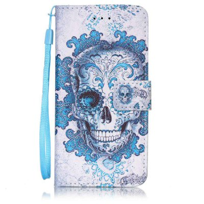 Buy BLUE AND WHITE Painted PU Phone Case for iPhone 6 Plus / 6S Plus for $4.78 in GearBest store