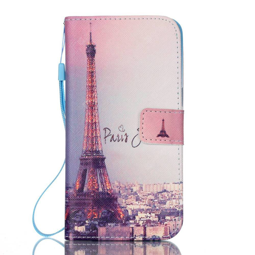 Signature Tower Painted PU Phone Case for Samsung Galaxy S7 Edge
