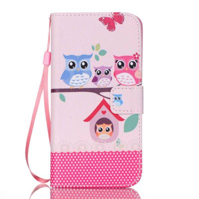 Owl Family Painted PU Phone Case for Samsung Galaxy S7 Edge