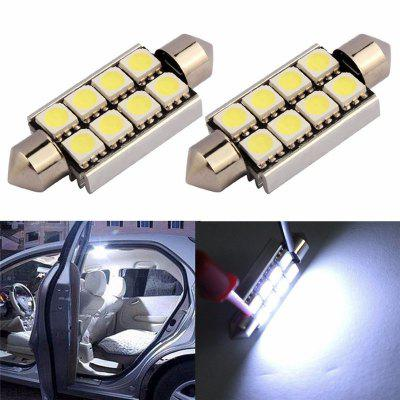 2Pcs Car Light 42MM 8SMD 5050 Portable Bright LED LightCar Lights<br>2Pcs Car Light 42MM 8SMD 5050 Portable Bright LED Light<br><br>Apply To Car Brand: Universal<br>Connector: No<br>Emitting color: White<br>Lumen: 120lm<br>Package Contents: 2 x Car Light<br>Package size (L x W x H): 5.00 x 5.00 x 5.00 cm / 1.97 x 1.97 x 1.97 inches<br>Package weight: 0.0120 kg<br>Product size (L x W x H): 4.20 x 1.60 x 1.00 cm / 1.65 x 0.63 x 0.39 inches<br>Product weight: 0.0100 kg<br>Type of lamp-house: LED