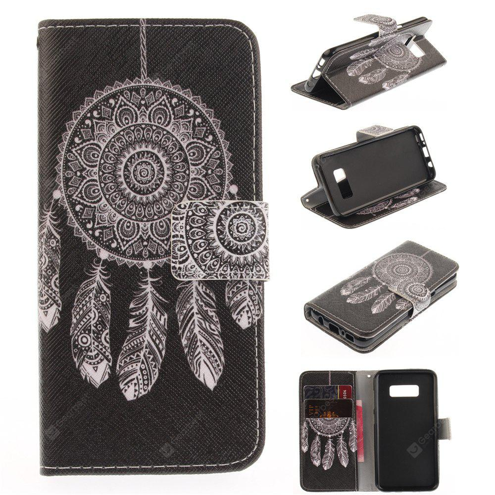 Windbell Pattern PU TPU Leather Wallet Case Design Stand Card Slots Magnetic Closure Case for Samsung Galaxy S8 Plus