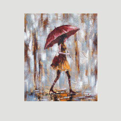 XiangYunChengFeng Hand Painted Umbrella Fashion Girl Oil Painting