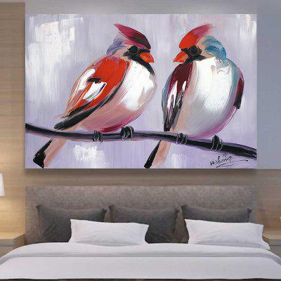 XiangYunChengFeng Pair of Birds Canvas Oil Painting Decorative PictureOil Paintings<br>XiangYunChengFeng Pair of Birds Canvas Oil Painting Decorative Picture<br><br>Brand: XiangYunChengFeng<br>Craft: Oil Painting<br>Form: One Panel<br>Material: Canvas<br>Package Contents: 1 x Oil Painting<br>Package size (L x W x H): 85.00 x 125.00 x 7.00 cm / 33.46 x 49.21 x 2.76 inches<br>Package weight: 5.0000 kg<br>Painting: Include Inner Frame<br>Product size (L x W x H): 80.00 x 120.00 x 0.10 cm / 31.5 x 47.24 x 0.04 inches<br>Product weight: 1.6000 kg<br>Shape: Horizontal<br>Style: Chic / Modern, Modern / Contemporary, Chic &amp; Modern<br>Subjects: Animal<br>Suitable Space: Bathroom,Bedroom,Boys Room,Cafes,Dining Room,Game Room,Girls Room,Hotel,Kids Room,Kids Room,Living Room,Office,Pathway,Study Room / Office