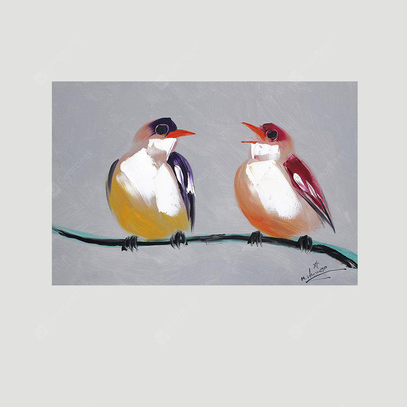 XiangYunChengFeng Pair of Birds Canvas Oil Painting Decorative Picture