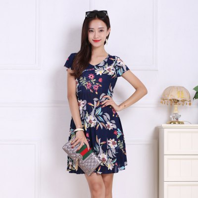 Womens Lily Flowers Increase Prints DressesMini Dresses<br>Womens Lily Flowers Increase Prints Dresses<br><br>Dresses Length: Mini<br>Elasticity: Micro-elastic<br>Fabric Type: Broadcloth<br>Material: Rayon<br>Neckline: V-Neck<br>Package Contents: 1xDress<br>Pattern Type: Floral<br>Season: Summer<br>Silhouette: A-Line<br>Sleeve Length: Short Sleeves<br>Style: Sweet<br>Weight: 0.1800kg<br>With Belt: No