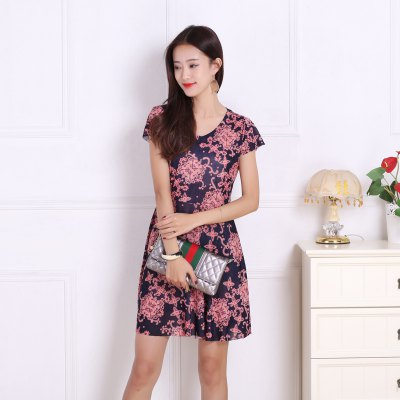 Womens Lace Floral Print Increase Prints DressesMini Dresses<br>Womens Lace Floral Print Increase Prints Dresses<br><br>Dresses Length: Mini<br>Elasticity: Micro-elastic<br>Fabric Type: Broadcloth<br>Material: Rayon<br>Neckline: V-Neck<br>Package Contents: 1xDress<br>Pattern Type: Print<br>Season: Summer<br>Silhouette: A-Line<br>Sleeve Length: Short Sleeves<br>Style: Sweet<br>Weight: 0.1800kg<br>With Belt: No