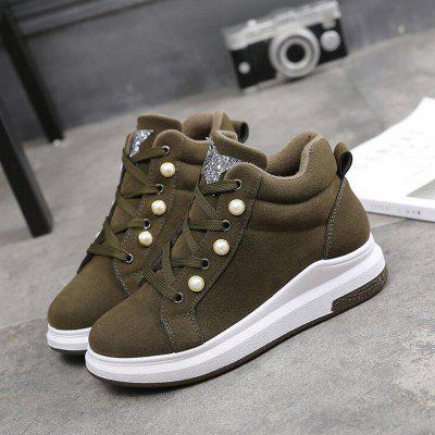 Korean Version of The Wild High Street Robes Casual ShoesWomens Casual Shoes<br>Korean Version of The Wild High Street Robes Casual Shoes<br><br>Available Size: 35,36,37,38,39<br>Closure Type: Lace-Up<br>Embellishment: None<br>Gender: For Women<br>Outsole Material: Rubber<br>Package Contents: 1 x Shoes?pair?<br>Pattern Type: Solid<br>Season: Winter, Spring/Fall<br>Toe Shape: Round Toe<br>Toe Style: Closed Toe<br>Upper Material: Flock<br>Weight: 1.1200kg