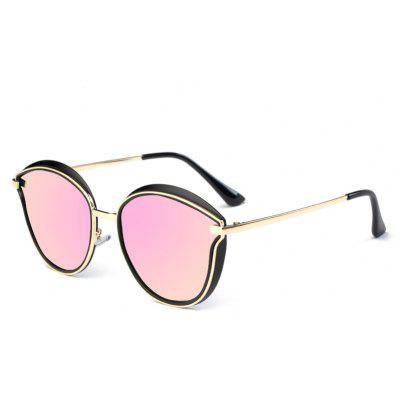 Buy PINK TOMYE 6066 HD Polarized Sunglasses TR Metal Polaroid Lenses for $22.95 in GearBest store