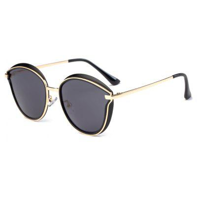 Buy GOLDEN+GREY TOMYE 6066 HD Polarized Sunglasses TR Metal Polaroid Lenses for $22.95 in GearBest store