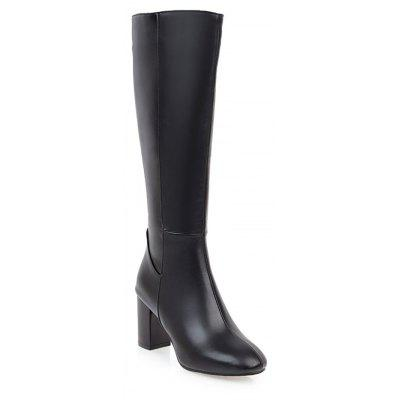 Buy BLACK 38 Simple Fashionable European Style Female Boots for $72.71 in GearBest store